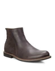 Ecco Findlay Leather And Suede Mid Cut Boots Coffee
