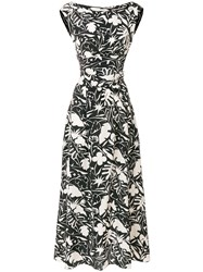 Aspesi Printed Sleeveless Dress Black