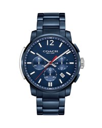 Coach 42Mm Bleecker Chronograph Watch With Bracelet Navy
