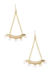 Yochi Design Faux Pearl Pop Earrings No Color