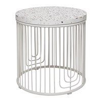 Bloomingville Cap Side Table White