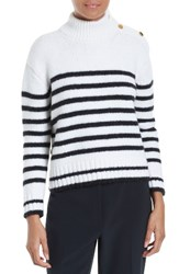 Kate Spade Women's New York Stripe Alpaca Blend Pullover