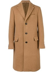 Salvatore Ferragamo Single Breasted Coat Nude Neutrals