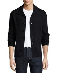 Tom Ford Ribbed Cashmere Cardigan Navy