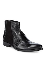 Jo Ghost Classic Leather Ankle Boots Black