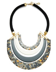 Trina Turk Multi Colored Crescent Bib Necklace