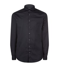Tiger Of Sweden Denzel Stretch Cotton Slim Fit Shirt Male Black