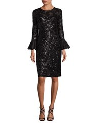 Rickie Freeman For Teri Jon Sequined Sheath Dress Black
