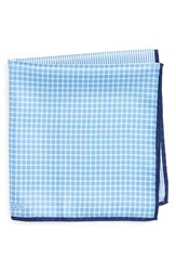 Nordstrom Men's Men's Shop Panel Silk Pocket Square Blue
