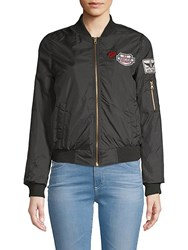 Candc California Full Zip Bomber Jacket Black