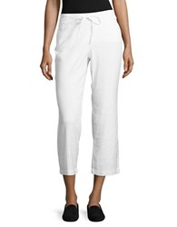 Nydj Petite Jamie Linen Blend Cropped Pants Optic White