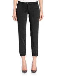 Joe's Jeans Edita Flight Zip Ankle Pants Black