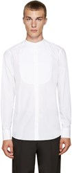 Kolor White Band Collar Shirt