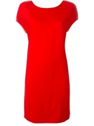 Agnona Scoop Back Short Dress Red