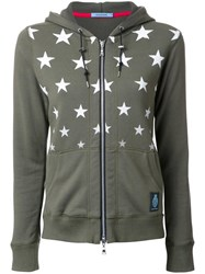 Guild Prime Star Print Zipped Hoodie Green
