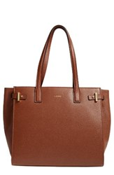 Lodis Jem Multifunction Leather Tote Brown Chestnut