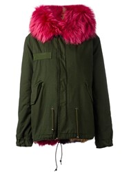 Mr And Mrs Italy Hooded Slim Fit Parka Green