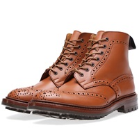 Trickers Tricker's Commando Sole Malton Brogue Derby Boot C Shade