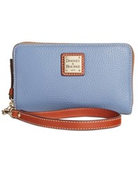 Dooney And Bourke Zip Around Carryall Wristlet Dusty Blue