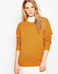 Le Mont St Michel Wool Mix Jumper Curry