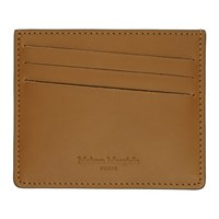 Maison Martin Margiela Brown Bicolor Classic Card Holder
