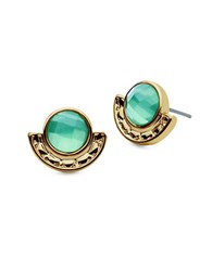 Lonna And Lilly Stone Accented Stud Earrings Green