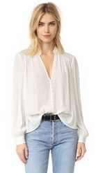 Free People Canyon Rose Button Down Shirt Ivory