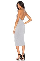 Blq Basiq Halter Midi Dress Gray