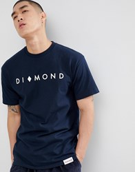 Diamond Supply Co. Marquise T Shirt In Navy