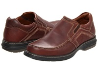 Johnston And Murphy Colvard Venetian Mahogany Waterproof Full Grain Leather Men's Slip On Shoes Brown