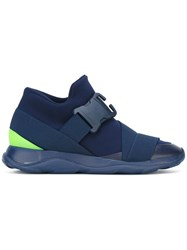 Christopher Kane Buckle Front Trainers Blue