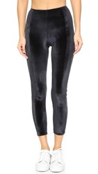 Lisa Marie Fernandez Karlie Velour Leggings Black Velvet