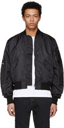 Wonders Black Ma 1 Bomber Jacket