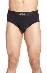 Naked Men's Essential 2 Pack Stretch Cotton Briefs Black
