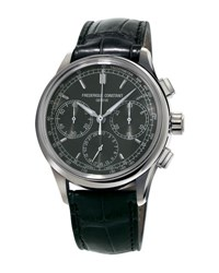 Frederique Constant Flyback Manufacture Chronograph Watch Black