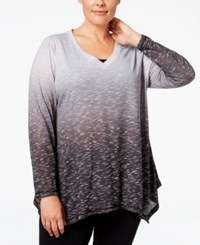 Ideology Plus Size Ombre Top Only At Macy's Noir Dip