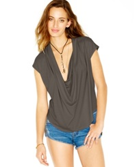 Free People Cowl Neck Draped Top