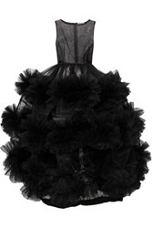 Molly Goddard Harriet Tiered Tulle Gown Black