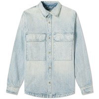 Fear Of God Denim Shirt Jacket Blue