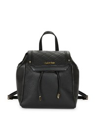 Calvin Klein Quilted Leather Backpack Black