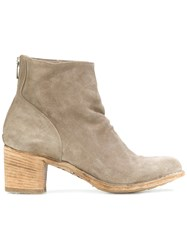 Officine Creative Brushed Ankle Boots Leather Calf Suede Nude Neutrals