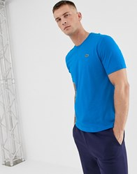 Lacoste Sport Small Logo T Shirt In Blue