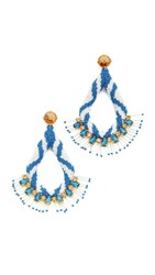 Tory Burch Beaded Statement Earrings Vintage Gold