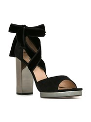 Valentino Lace Up Sandals Black
