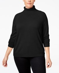 Karen Scott Plus Size Cashmelon Luxsoft Turtleneck Sweater Only At Macy's Luxsoft Black