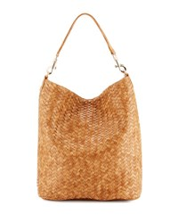 Neiman Marcus Woven Hobo Bag Honey