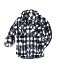 Appaman Snow Fleece Plaid Shirt Size 2 10 Multi