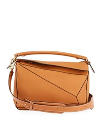 Loewe Puzzle Small Grained Leather Satchel Bag Tan