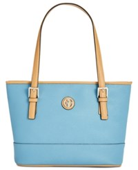 Giani Bernini Saffiano Tote Created For Macy's Light Chambray