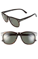 Tom Ford Women's 'Franklin' 55Mm Sunglasses Shiny Havana Green Lenses Shiny Havana Green Lenses